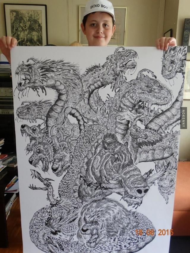 Ce jeune de 16 ans dessine depuis l'âge de 4 ans, l'évolution de ses dessins est incroyable (32 ...