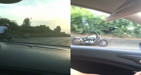 une moto roule toute seule sur l 39 autoroute maisons alfort. Black Bedroom Furniture Sets. Home Design Ideas