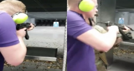 Un Régis fait flipper tout le monde dans un stand de tir