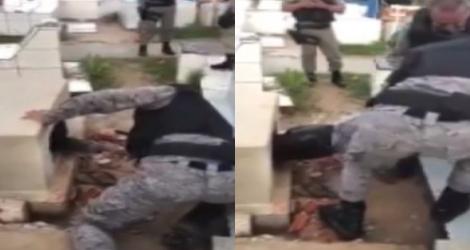 Un homme se coince dans une tombe (Brésil)