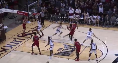 8 secondes de folie à la fin d'un match de basket (Missouri State)