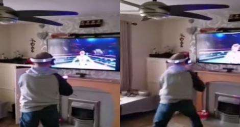 Il casse sa télé en jouant à un jeu de boxe en réalité virtuelle