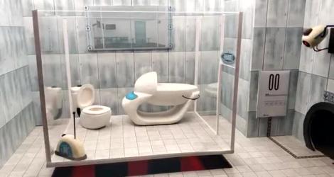 Un hamster joue à Portal